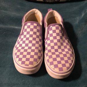 Purple checked vans size4 missy